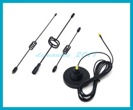 Wholesale Gsm Cdma Antenna - Free shipping 1 PC NEW 14dbi 890-960 1710-2150MHz Vehicle Antenna 3G CDMA GSM car Antenna SMA plug strong magnetic