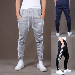 Wholesale Harem Tapered Sweat - S5Q Men Casual Hip Hop Dance Skinny Taper Sweat Sport Harem Pant Trousers Slacks AAACUQ