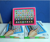 Wholesale Alphabet For Learning - Free DHL+EMS Y-Pad English Learning Machine ypad Y-pad Table Learning Machine English Computer for Kids Children Educational Toys Music+Led