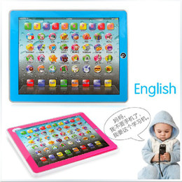 Wholesale English Tables For Kids - Free DHL Y-Pad English Learning Machine ypad Y-pad Table Learning Machine English Computer for Kids Children Educational Toys Music+Led