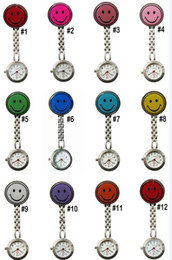Wholesale Doctor Watch Smile - 2013 New Doctor Metal Stainless Nurse Medical Smile Face Watch Watches With Clip Pocket Watch 100pcs lot
