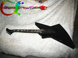 Wholesale China Guitars For Sale - On sale Stock Guitar EP Black K Style Explorer Electric Guitar guitars from china