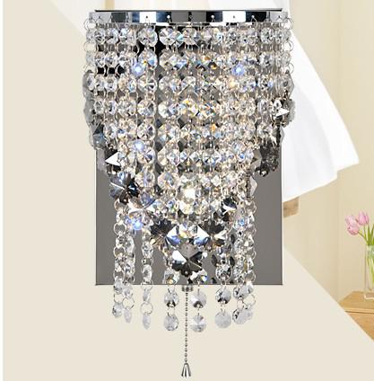 best modern gray crystal wall lights snowflake mirror front lamp bathroom lighting fixture bedroom wall sconce wl021 under dhgatecom