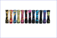 Wholesale painting tip - Metal Long aluminum drip tips with paint splatter and splashed for 510 e cigarette EGO Vivi Nova CE4 CE5 CE6 DCT EE2 clearomizer