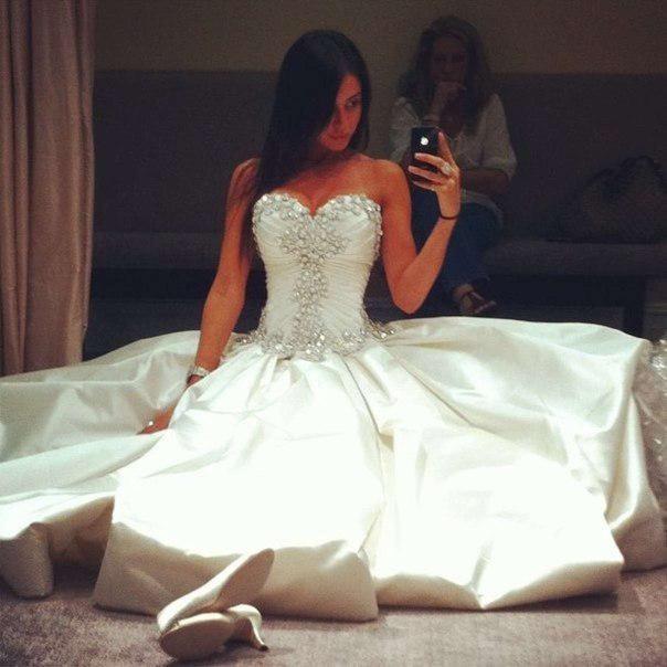 2014 Crystal Wedding Dresses Luxurious Sexy Sweetheart