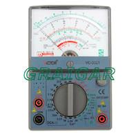 Wholesale Victor Multimeter - Free shipping brand new VC3021 victor Analog Multimeter Analogic Meter AC DC Ohm VOLT Voltmeter Ohmmeter Ammeter handheld tester