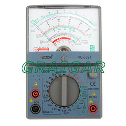 Wholesale Dc Ac Ammeter - Free shipping brand new VC3021 victor Analog Multimeter Analogic Meter AC DC Ohm VOLT Voltmeter Ohmmeter Ammeter handheld tester
