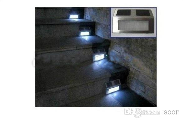 Wholesale-LED Solar Stainless Outdoor Staircase Light Solar Powered Stairway Wall Light Corridor Lamp