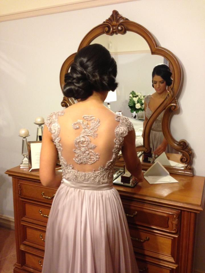 2014 Elie Saab Sheer Beaded Backless Crystal Pageant Gowns Evening dresses Sheath Bateau Long Sleeves Floor-Length Chiffon Prom Dress