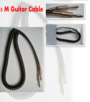 Wholesale Guitar Amp Led - Spring 5M Guitar Cable bass Cable Amp Lead Cord for Noise Reduction