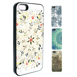 Wholesale Iphone Skins Wood - S5Q Flower Leaf Art Wood Stripes Case Back Cover Protector Skin For iPhone 5S 5 AAACTV