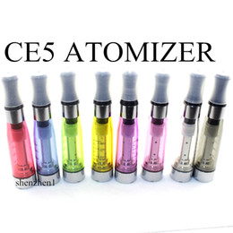 Wholesale Ego Series Pen - CE5 Clearomizer Atomizer Cartomizer 1.6ml Dual-hole No Cotton Thread Electronic Cigarette Vaporizer Pen For All Ego Series 8 Colors AT011