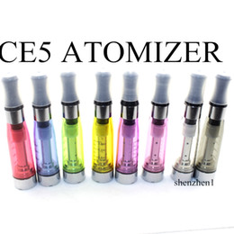 Wholesale Ecig Clearomizer Ce5 - CE5 Atomizer EGo Clearomizer 1.6ml No Wick CE5 Vapor Tank Vaporizer Pen Electronic Cigarette For E-cig Ego Vsion Spinner Ecig Battery AT011