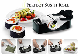 Wholesale Wholesale Sushi Maker - Easy Sushi Maker Roller equipment perfect DIY roll Roll Sushi with color box kitchen accessories