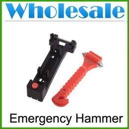 Auto Escape Canada - 2 in 1 Multi-Purpose Automotive Seat Belts Cutter Window Breaker Life Saving Hammer Car Auto Window Breaker Seat Belt Cutter Escape Tool