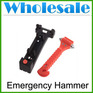 Wholesale seats auto resale online - 2 in Multi Purpose Automotive Seat Belts Cutter Window Breaker Life Saving Hammer Car Auto Window Breaker Seat Belt Cutter Escape Tool