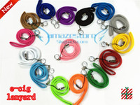 Wholesale Professional E Cigarette - Professional EGO Lanyard,string,necklace for e cig with Chain ring pure cotton comfortable 15 Colors available amazestore DHL free 100pcs