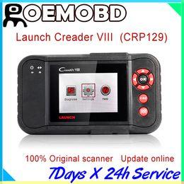 Wholesale Obd Usb Nissan - Hot sales Professional Launch Creader viii 100% Original Creader8 (same as Creader CRP129) update online obd ii scanner