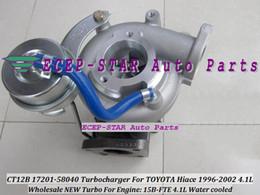 Toyota ct12b online-CT12B 17201-58040 17201 58040 TURBO Turbocompresor de turbina para TOYOTA Hiace / Mega Cruiser 1996-2002 4.1L Engine15B-FTE 15BFT