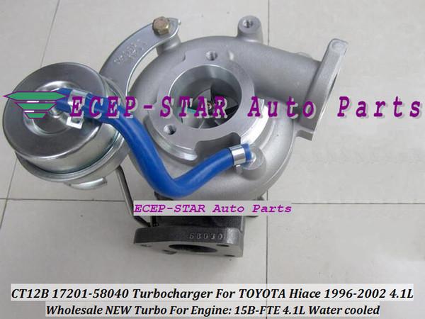 CT12B 17201 58040 17201 58040 TURBO Turbine Turbocharger Fit For TOYOTA  Hiace/Mega Cruiser 1996 2002 4 1L Engine15B FTE 15BFT Car Turbos Cheap