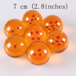 Wholesale Crystal Dragon Balls Japan - Japan Anime Dragon ball Z star crystal ball 1 piece Big Size 2.8Inch(7CM) retail package can choose star