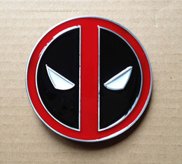 Wholesale Alloy Stock - Fashion deadpool belt buckle with pewter finish SW-B808 suitable for 4cm wideth belt with continous stock free shipping