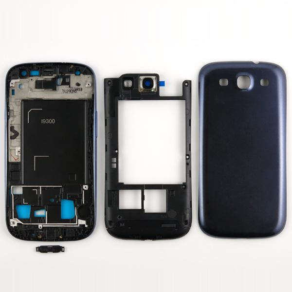 For Galaxy SIII S3 I9300 Original Full Housing Front Housing + Middle Frame Housing + Battery Back Cover + 4 Buttons MOQ
