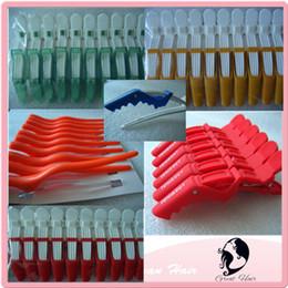 Wholesale Diy Crocodile - Hair Extension Hair Tools 5 Colors alligator clips Crocodile duckbill Mouth Clip Great hair Hairdressing DIY Tool 8PCS LOT