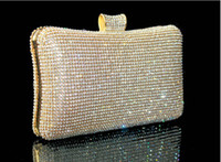 Wholesale Silver Wristlet Purse - Hot Royal Western Women's Lady Fashion Swarovski Silver Crystal Evening Clutch Bag Purse Handbag Shoulderbag Wedding Bridal Bag Accessories