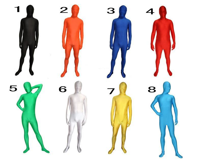 free shipping 8colors Full bodysuit zentai Unisex Lycra Spandex Zentai Body Suit Headless Fancy Dress Catsuit Bodysuits