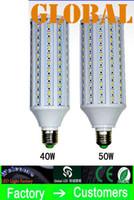 Wholesale Cree Leds Wholesale - 10 Piece 50W LED Bulb Corn Bulbs Lamp 5630 SMD 40w 50w 4300LM E27 E26 B22 E14 210V-240V 110V-130V indoor Light 132pcs 165pcs Leds via DHL