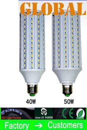 Wholesale E26 Led Light Corn - 10 Piece 50W LED Bulb Corn Bulbs Lamp 5630 SMD 40w 50w 4300LM E27 E26 B22 E14 210V-240V 110V-130V indoor Light 132pcs 165pcs Leds via DHL