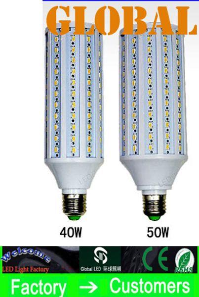 top popular 10 Piece 50W LED Bulb Corn Bulbs Lamp 5630 SMD 40w 50w 4300LM E27 E26 B22 E14 210V-240V 110V-130V indoor Light 132pcs 165pcs Leds via DHL 2020