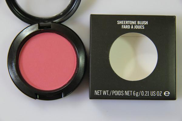 Maquillaje CALIENTE Shimmer Blush Sheer Tone Blush 24 Color diferente Sin espejos Sin brocha 6g 12pcs