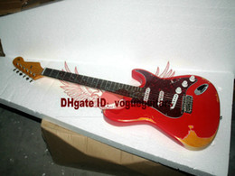 Wholesale relic body - Custom Shop 1961 St Heavy Relic Electric Guitar Fiesta Red High Quality