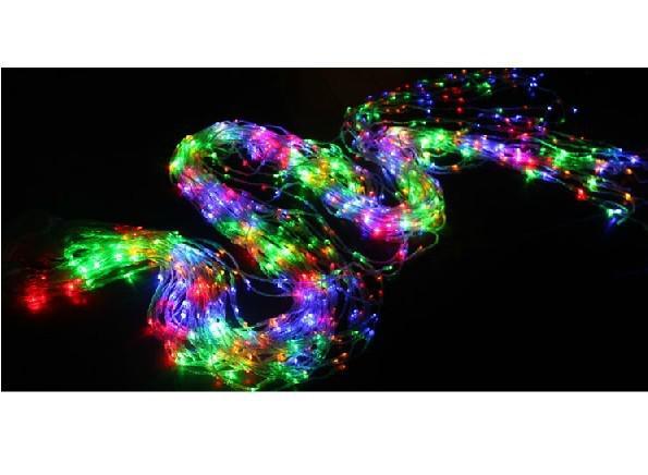 Cascada de agua cortina de luz de las luces de cadena digitales 3 * 3M 512LED modelo digital de 16 LEDs metergasis Fondo de la boda luces de Navidad