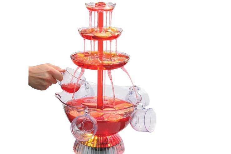 Pirámide creativa máquina de bebidas de vino tinto 220V-240V jugo de refresco máquina fuente verter dispositivo / lote
