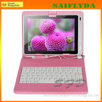Wholesale Tablet Keyboard Stand - 7inch keyboard leather case with stand holder universal tablet keyboard case