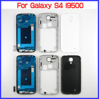 Wholesale s4 full cover - For Samsung Galaxy S4 GT-I9500 OEM Full Housing Set for I9500 Front Housing + Middle Frame Housing + Battery Back Cover + 4 Buttons