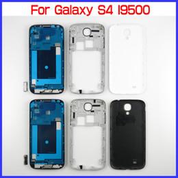 S4-tasten online-Für Samsung Galaxy S4 GT-I9500 OEM Full-Gehäuse-Set für I9500 Front Gehäuse + Middle Frame Housing + Batterie Rückseite + 4 Tasten