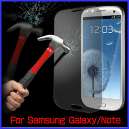 Wholesale Galaxy S3 Screen Protection - Perfect Toughened Tempered Glass Protection Screen For Samsung Galaxy S4 S3 S2 Note 3 Note 2 With Retail Box New Arrival