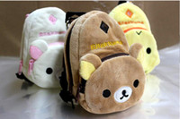 petit porte-monnaie achat en gros de-Mignon beau bébé enfants sac à main petit sac de changement enfant garçons filles changent sac à main ours Simsimi 12pcs / lot QZ410