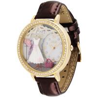 korea assistir novo venda por atacado-New Original Coréia Mini Relógio Lady 3D Argila Romatic Casamento Golden Rhinestone Mulheres relógio de pulso, FRETE GRÁTIS