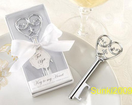 Wholesale Ems Alloy - New Arrival Free via EMS DHL wedding gift small gift love key alloy bottle opener