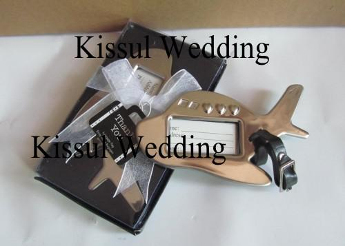 Wedding favors Airplane Luggage Tag in Gift Box with suitcase tag for Wedding gifts and Party Favor Quality Promise
