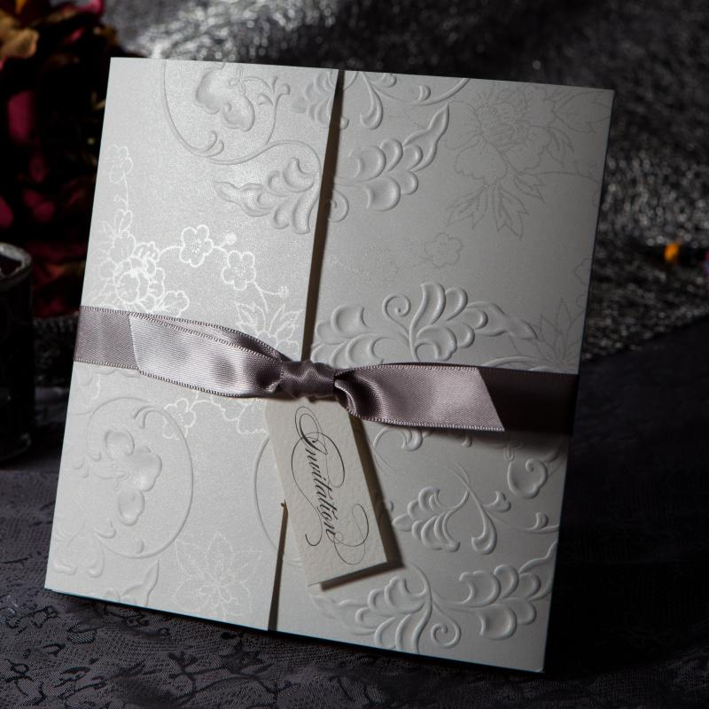 Elegant Embossed Free Personalized & Customized Printing Wedding ...
