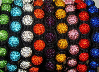 Wholesale Shamballa Beaded Bracelet Crosses - New!10mm mixed micro pave cz Disco disco Ball Beads Cross Bangles OMN Women Crystal Shamballa Bracelet jewelry wholesale