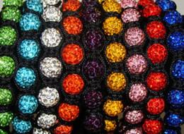 Wholesale Rhinestone Crystal Crosses Beaded Bracelet - New!10mm mixed micro pave cz Disco disco Ball Beads Cross Bangles OMN Women Crystal Shamballa Bracelet jewelry wholesale
