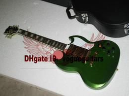 Wholesale Sg Guitar Green - Free Shipping Green 3 Pickups SG Electric Guitar High Quality Best Cheap