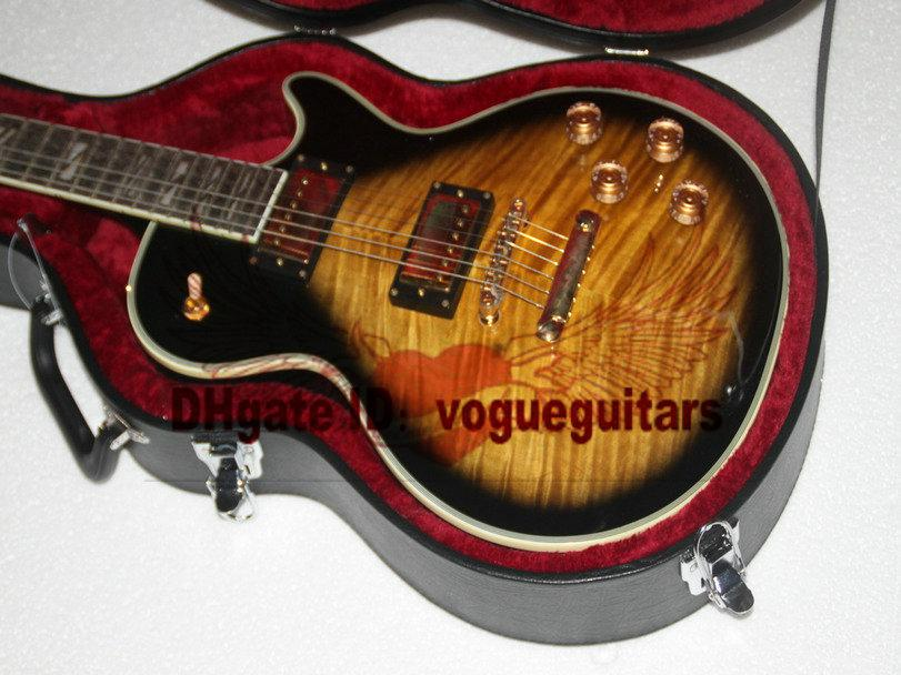 new honey flame top electric guitar one piece neck wholesale from china guitar factory expensive. Black Bedroom Furniture Sets. Home Design Ideas